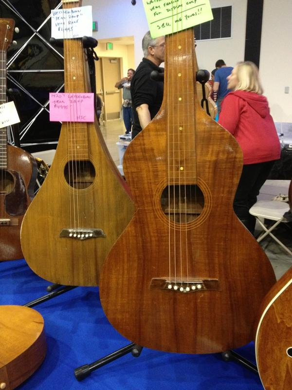 SoCAL World Guitar Show - Weissenborn guitars.