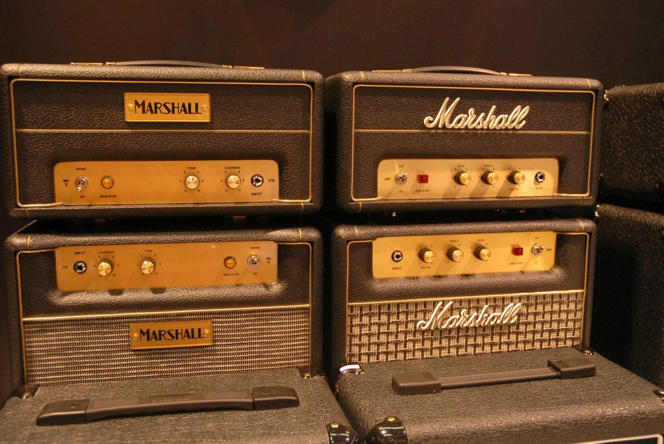 Some of the amps Marshall will roll out in 2012