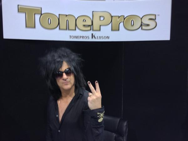 Steve Stevens at the Tone Pros booth.