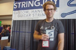 "Scott Marquart's U.S-made String Joy strings include a note signed by the ""builder."""