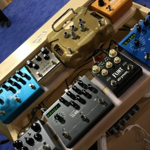 #Strymon is taking us all back to the early recording studios of the '50s and '60s with its latest pedal, the Deco. Check out their six demo stations in Booth #1735! #namm #namm2015 #namm15 #vintageguitar#nammshow — in Anaheim, California.