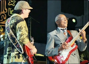 Hubert Sumlin onstage Santana