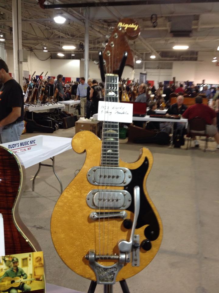 Super rare 1953 Bigsby 5-string mandolin available from Laurence Wexer.
