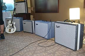 Supro's new line of combo amplifiers.