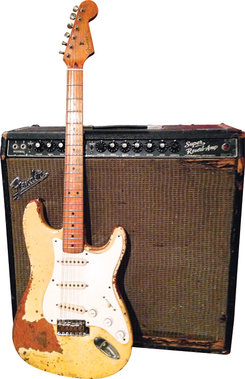 Moeller has used this '80s Strat since he was 16 years old.