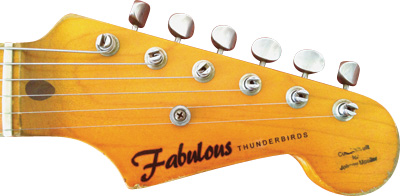 The headstock of Johnny Moeller's Nashguitar S offers a twist on a familiar logo.