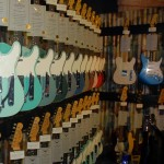 Teles in Custom Shop section of the Fender Booth