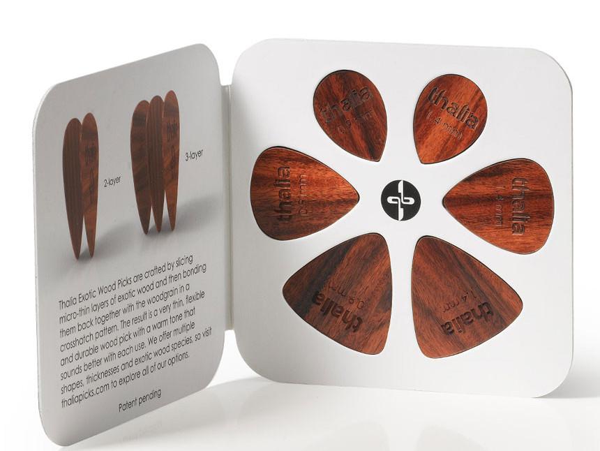 Thalia Offers Exotic Wood Picks Vintage Guitar 174 Magazine