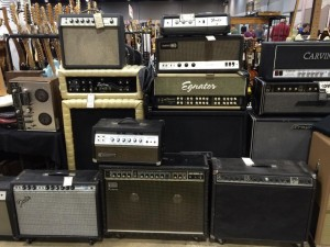 Something for all your amp needs, courtesy of The Music Shoppe. Guitarlington 2015.
