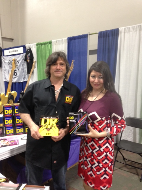 Tony Pinheiro and Rosa Daza of DR Strings.