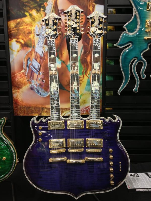 Triple neck Minarik Guitar.