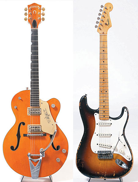 "The ""perfect year"" for the Gretsch 6120 was 1959, Verheyen says. '58 Fender Stratocaster."
