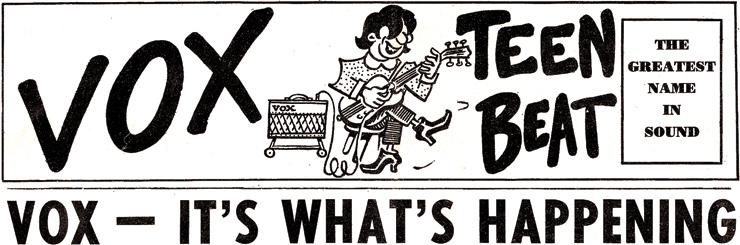 The Vox Teen Beat masthead.