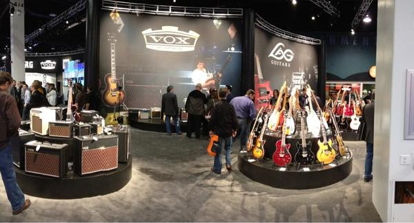 Vox Amplification booth.