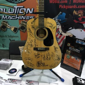 This autographed acoustic #guitar will be presented to Guitars for Vets by WD Music Production on Saturday, January 24. Learn more about #GuitarsforVets atGuitarsforVets.org! #NAMM2015 #NAMM15#vintageguitar #G4V #WDMusic — in Anaheim, California