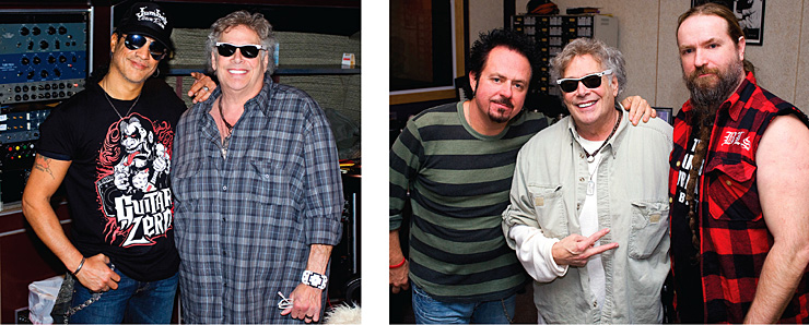 Leslie West in the studio with Slash Steve Lukather Zakk Wylde.