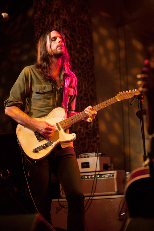 Wilson with his home-made Telecaster copy. Photo: Jeff Hahne.