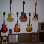 Wall of Guitars and Amps