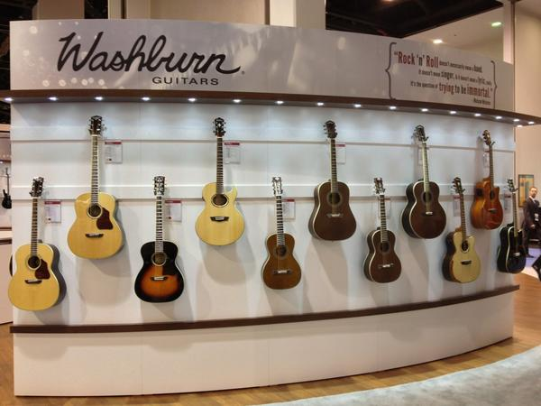 Washburn Guitar spread.