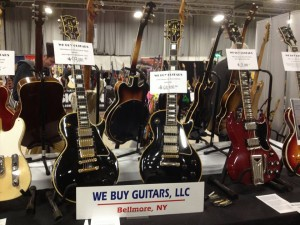 '59 and '58 3-pickup Les Paul Customs, and a '61 Les Paul/SG at We Buy Guitars.