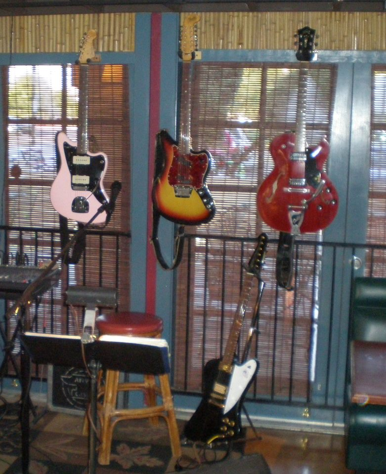 1960 Fender Jazzmaster - 1966 Fender Electric XII - 1976 Gibson Reverse Firebird - 1965 Guild Starfire III