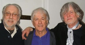 Three original Yardbirds (from left); Chris Dreja, Jim McCarty, and Top Topham.