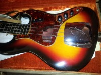 1962 Sunburst Fender Jazz bass in mint condition.  Only buckle scratches on the back.
