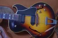1956 Gibson ES 175 D sunburst electric hollow body guitar, all original