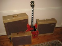 A COLLECTOR'S DREAM COMBO - 1961 GIBSON ES-355 TDSV PLUS ORIGINAL TWO AMPS AND MORE