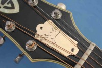 Custom TRUSS ROD COVERS Handwrought in Solid Brass, Bronze, Copper or Silver by Chasing Angels®