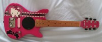 Rare Fender Hello Kitty pink childrens electric guitar w/built in speaker
