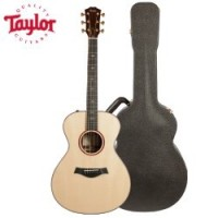 Taylor Guitars Custom Grand Concert Guitar with Deluxe Brown Taylor Hardshell Case and Taylor Pick,