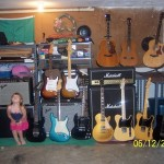 Emma and her daddy&#039;s guitars