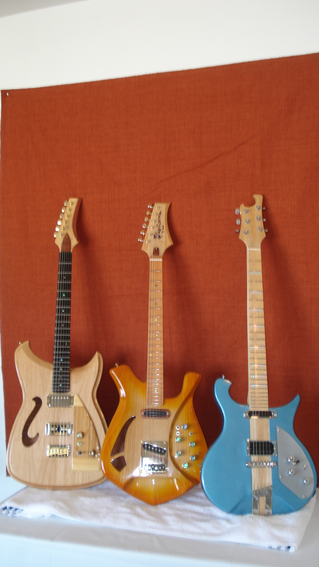 Electric guitars I built