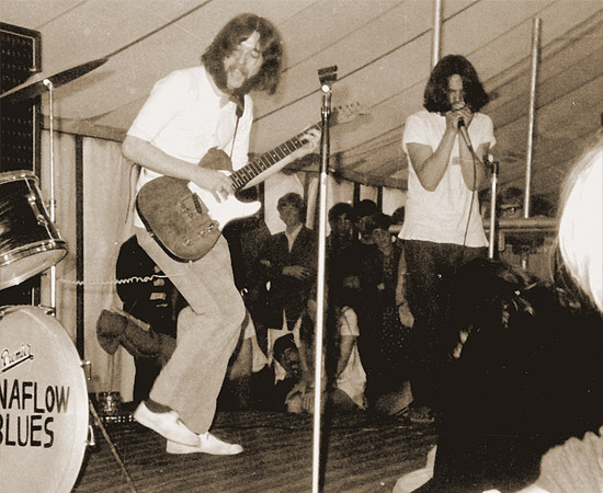 Dynaflow Blues gigs at the Sunbury Blues Festival, August '68.