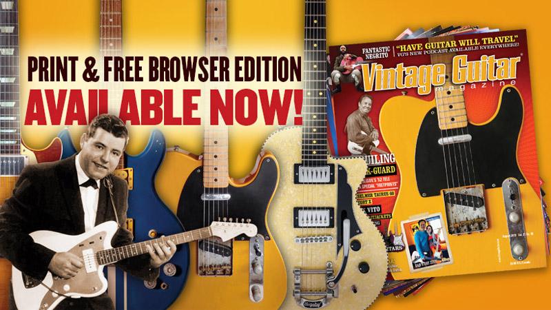 August 2019 Vintage Guitar magazine Paul Burlison Fender blackguard Telecaster