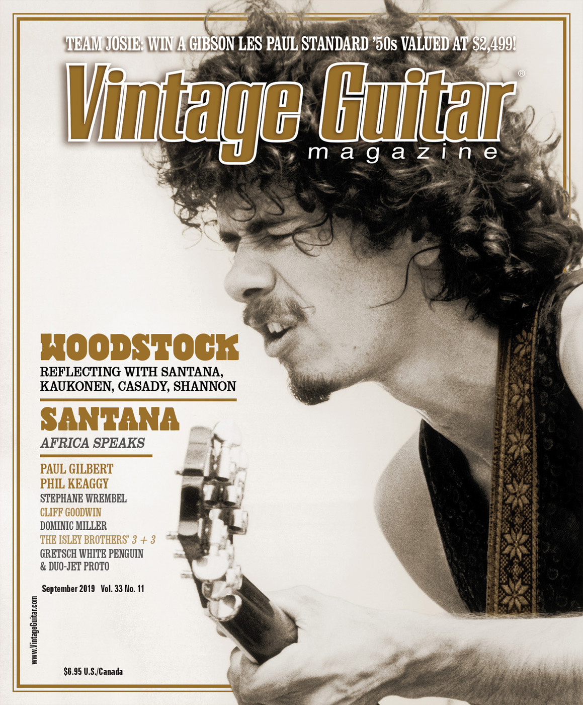 September 2019 Vintage Guitar magazine