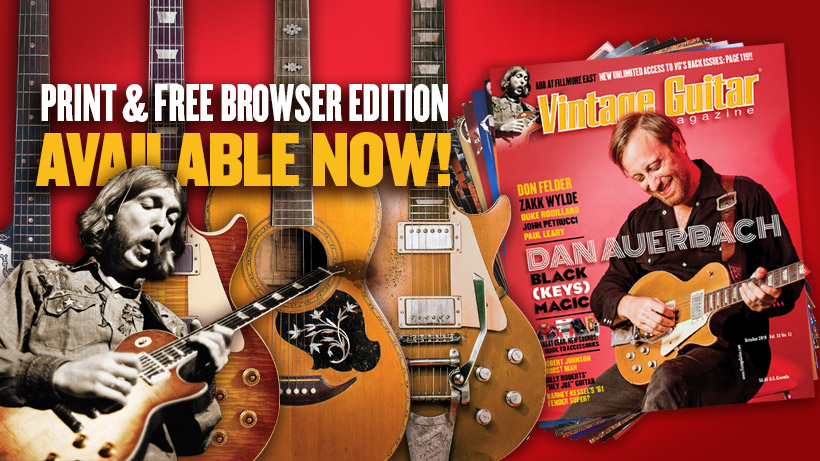 Vintage Guitar® magazine | Published monthly since 1986