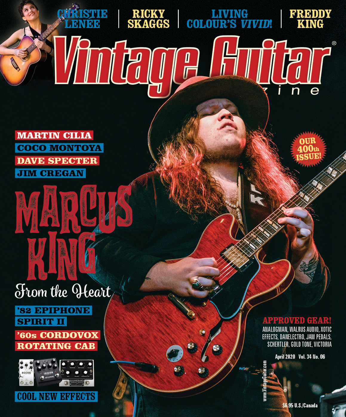 Vintage Guitar magazine April 2020 Issue with Marcus King