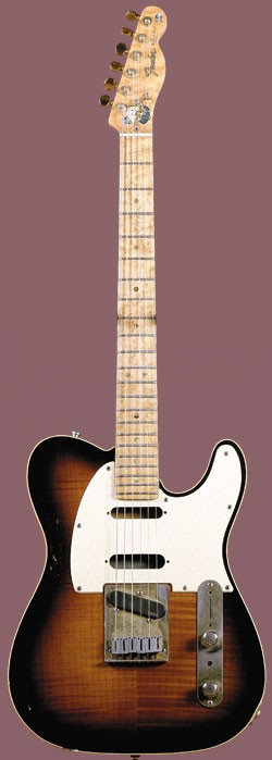 customized 1989 Fender Custom Shop 40th Anniversary Telecaster