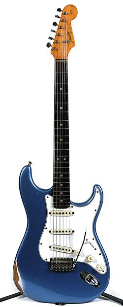 '65 Fender Strat in Ice Blue Metallic.