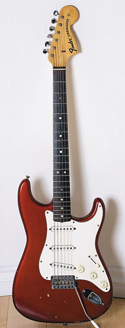 Mid-'70s Fender Stratocaster in Candy Apple Red.