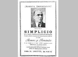 Advertisement from the catalog of Romero y Fernández of Buenos Aires.
