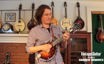 Andrew Hendryx - Wish You Were Here on a mandolin Vintage Guitar magazine