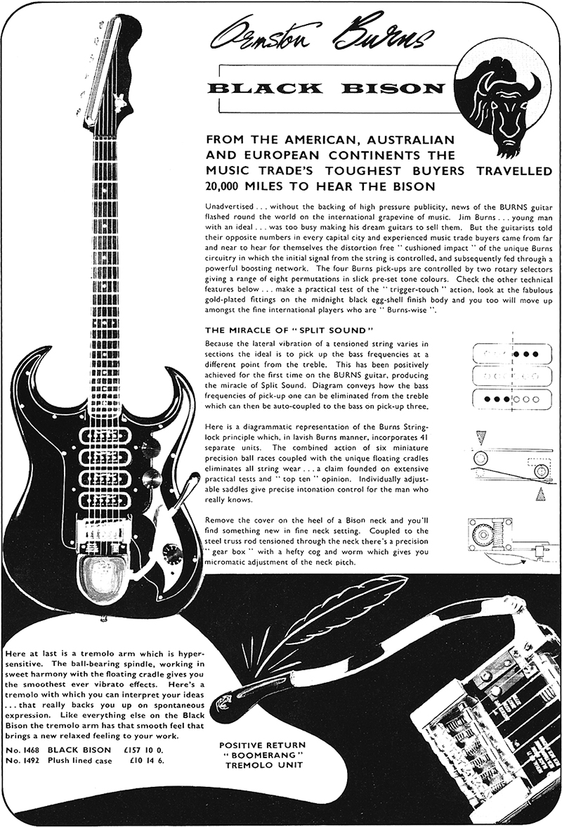 Beat Portraits Burns Volume 2 Vintage Guitar Magazine Wiring Actual Behold The Black Bison Click To Enlarge