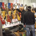Drew's Guitars booth.