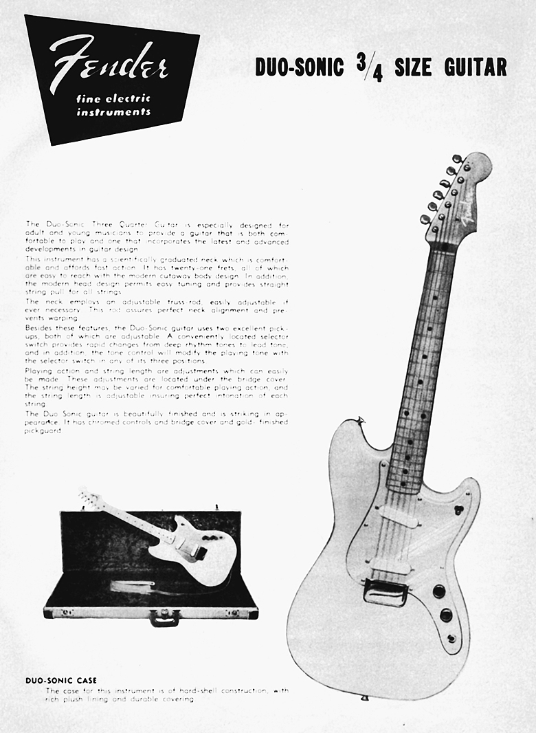 1958 duo-sonic with anodized aluminum pickguard
