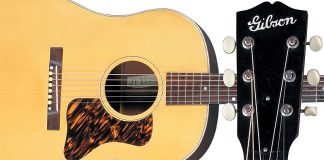 Gibson Blond j-35 Photo: Kelsey Vaughn, courtesy George Gruhn. Vintage Guitar magazine Home Feature
