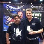 Joe Grein (r) with Dominic Mancini at the Celestial Effects booth.
