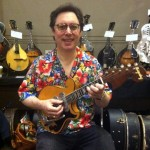 Larry Wexer and his rare 5-string electric mandolin.